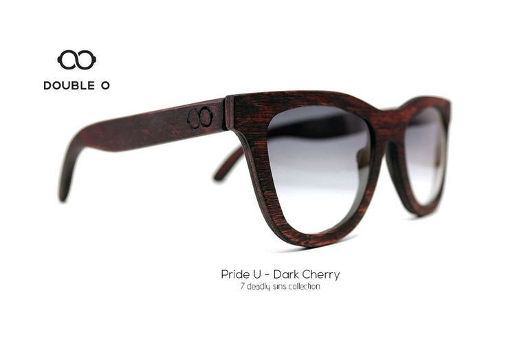 Pride U - Dark Cherry / Handmade Wooden Sunglasses / Made in Crete,Greece