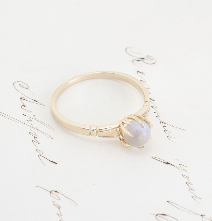 Moonstone Crystal Ball Ring | Erica Weiner