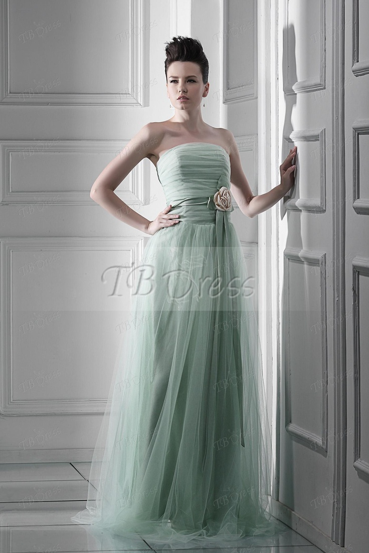 28 best green bridesmaid dresses images on pinterest green a line flowers strapless long bridesmaid dress ombrellifo Choice Image