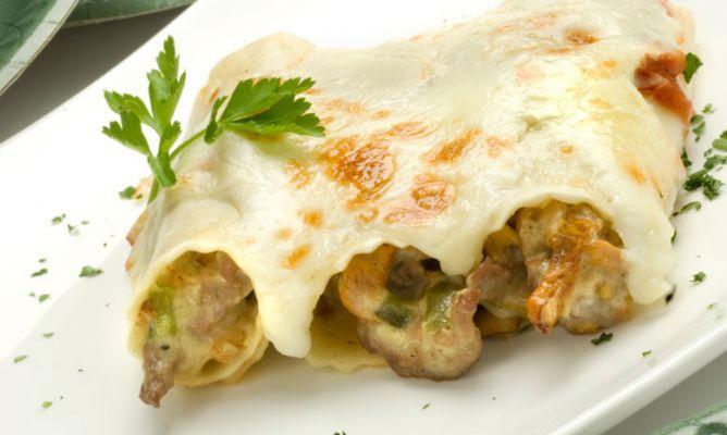 Receta de canelones rellenos de setas. Karlos Arguiñano nos propone unos deliciosos canelones con setas y carne de ternera.