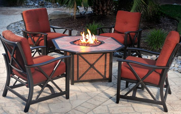 They need to know about the style of the patio furniture with fire pit, the actual height, the heat, and also the interior design of the fire pit table itself. Description from decoratingplan.com. I searched for this on bing.com/images