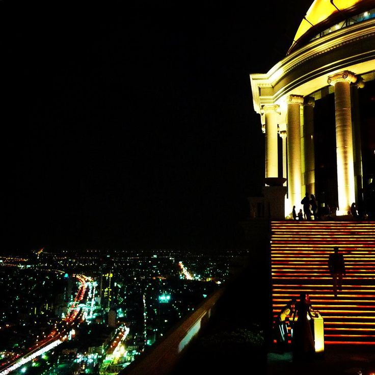 Something about rooftop bars. The glimmering city lights below, champagne in the hand, the feeling like you're on top of the world. #KeepCalmAndJasTravel Skybar, Lebua State Tower, Bangkok, Thailand