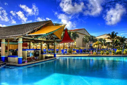 St. Kitts Marriott swim up bar.