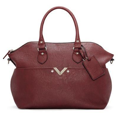 Burgundy Hand Bag .