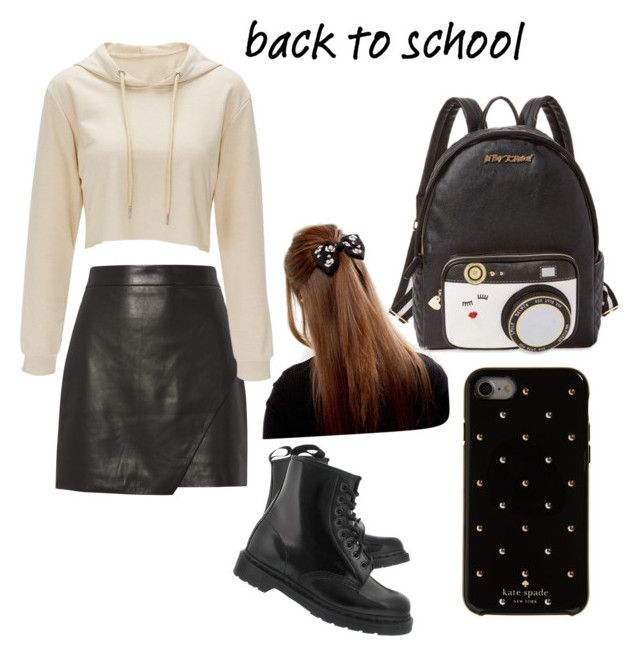 """""""back to school"""" by lfumbani on Polyvore featuring Betsey Johnson, Michelle Mason, Kate Spade and Dr. Martens"""