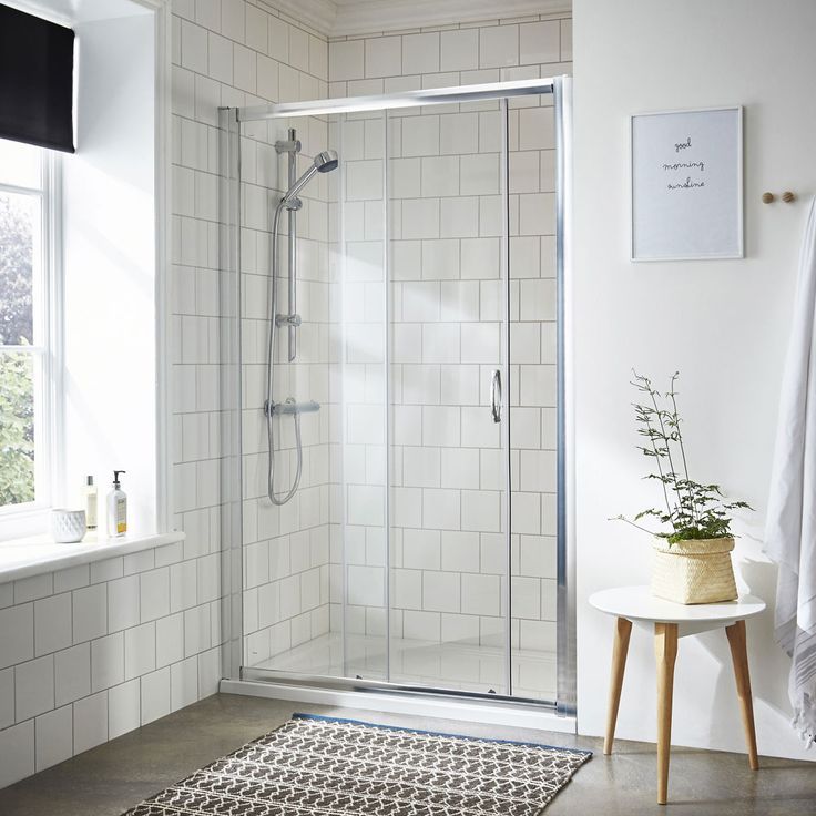 Ella Sliding Shower Door - Various Size Options at Victorian Plumbing UK