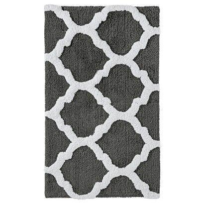 Threshold™ Fretwork Bath Rug - Gray (20x34