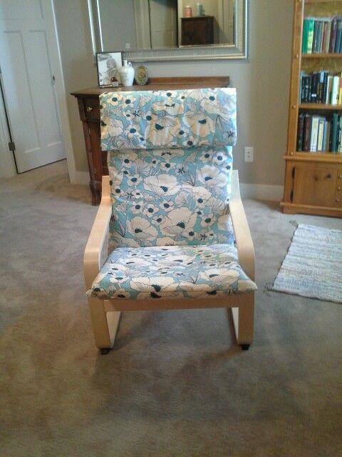 recovered ikea poang chair chambre enfants pinterest. Black Bedroom Furniture Sets. Home Design Ideas