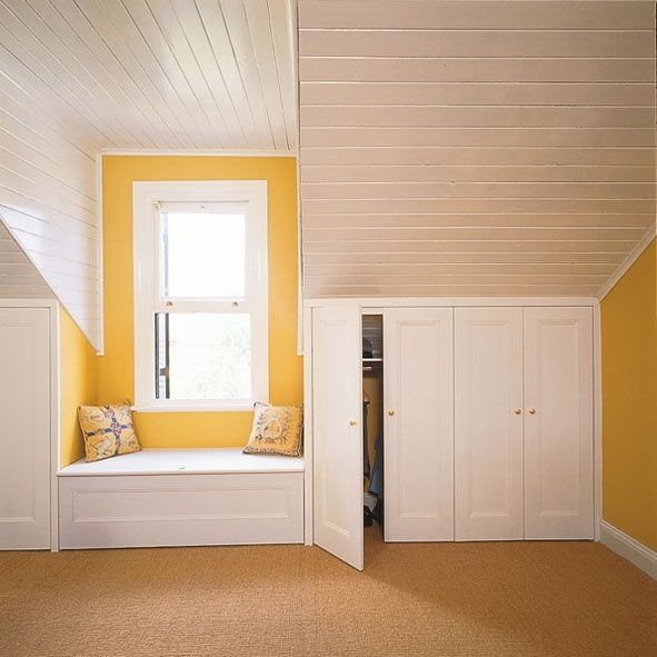 Attic Renovation Ideas Beveled Woods Slats On Ceiling
