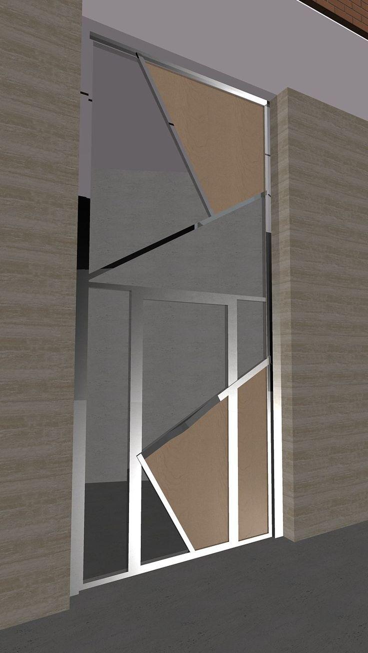 25 ide terbaik tentang puertas de chapa di pinterest for Puerta xor de tres entradas