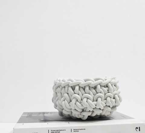 crocheted rubber bowls / white