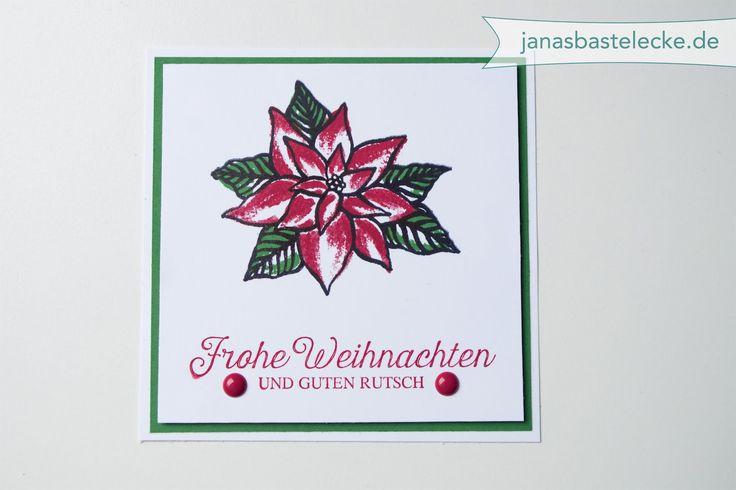 Kreativer Montag 50 - Quadratische Minikarte Weihnachtsstern