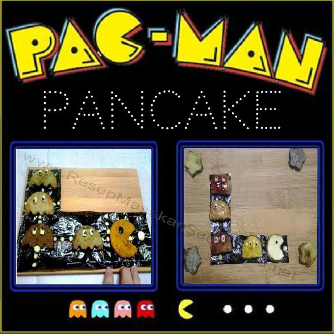Masakan Unik - Pac Man Pancake  Video Cara Masak : http://www.youtube.com/watch?v=Q-5uldtKpXc  NB : website (http://ResepMasakanSederhana.net/) kami dalam proses pembuatan   #resep#masakan#sederhana#unik#unique#enak#recipes#food#pancake#pacman