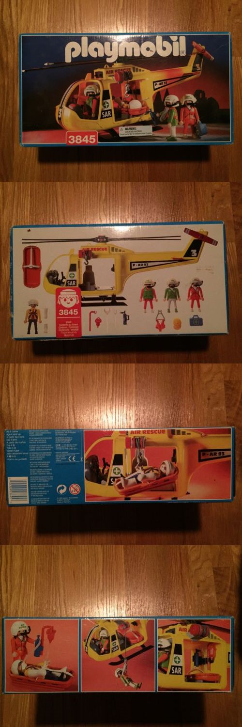 Rescue Heroes 50307: Playmobil 3845 !!! Brand New In Box Never Opened! 1995 Helicopter Rescue Look!!! -> BUY IT NOW ONLY: $35 on eBay!