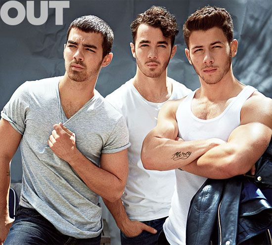 The Jonas Brothers Pose For Out Magazine To Promote Nick's Gloriously Sculpted Arms (PHOTOS). WOW...