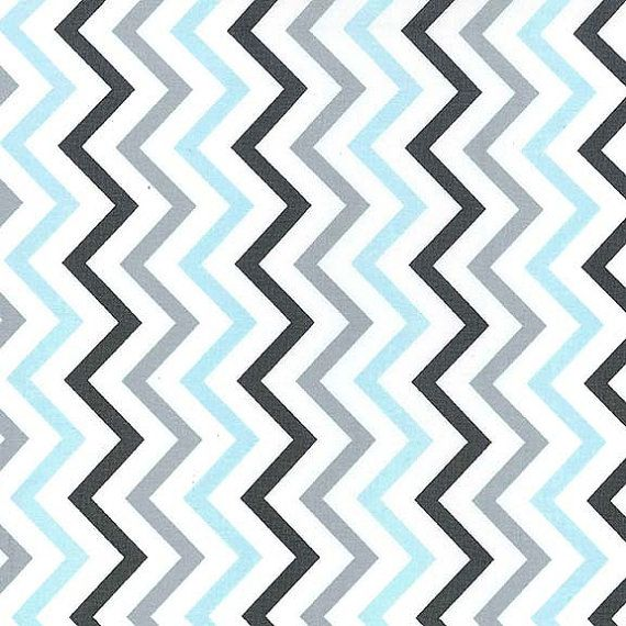 Comfortable Blue And Grey Chevron Fabric Pictures Inspiration ...