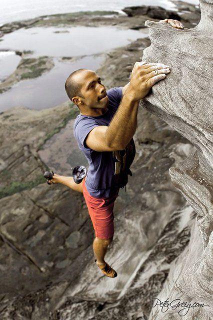 Rock climber, North Head, Sydney, by PeterGreig.com  http://www.thefancy.com/things/269496159/North-Head%2C-Sydney