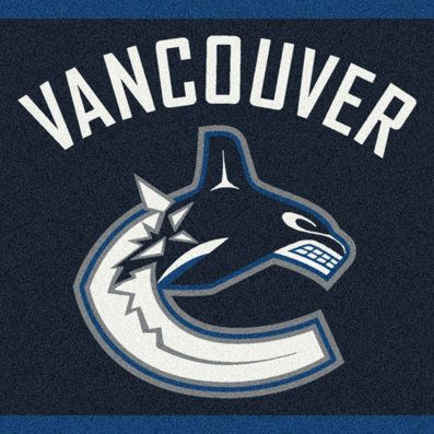Vancouver Canucks Spirit Nhl Hockey Puck Logo Area Rug