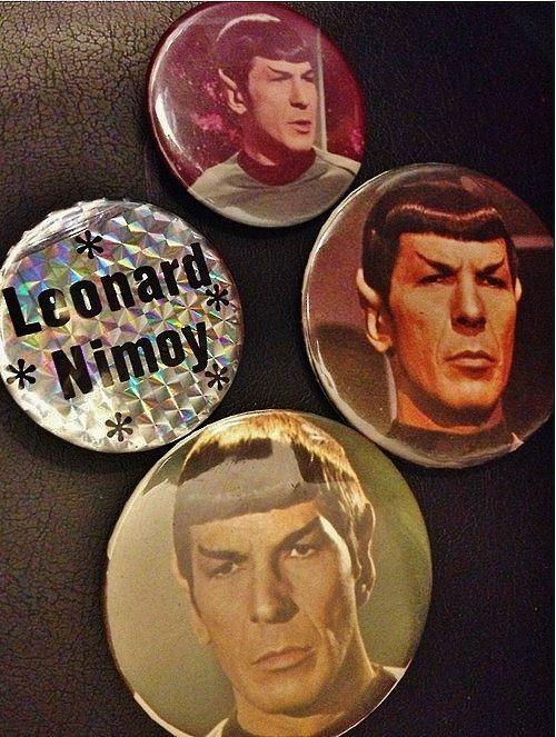 Vintage Star Trek/Spock/Leonard Nimoy Pinback by deepspacequeer, $8.00