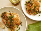 Chicken Picatta - Chicken tenders with chopped spinach in the bread crumbs for addend greens