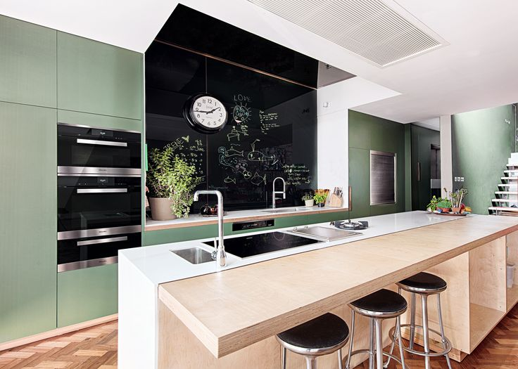 Professional chef Anna Hansen, MBE's kitchen needed to be both a practical and welcoming family space. Featuring a range of Miele appliances including an Induction Hob on the large central island, the resulting space is perfect for entertaining friends and family whilst preparing food #kitchendesign