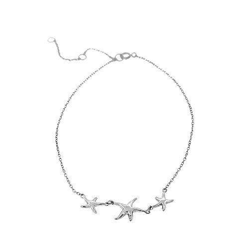 925 Sterling Silver Three Triple Starfish Anklet Bracelet.More info for anklets for women;buy silver anklets online;gold anklet designs with price;anklets for girls;gold anklet designs with price could be found at the image url.(This is an Amazon affiliate link and I receive a commission for the sales)