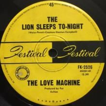 THE LION SLEEPS TO-NIGHT / THE LONELY HEARTS CLUB CHRISTMAS PARTY ~ LOVE MACHINE 7 inch single