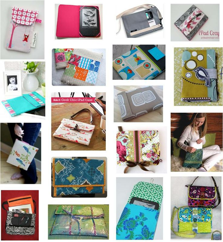 free patterns: iPad, Kindle, iPhone and laptop cases