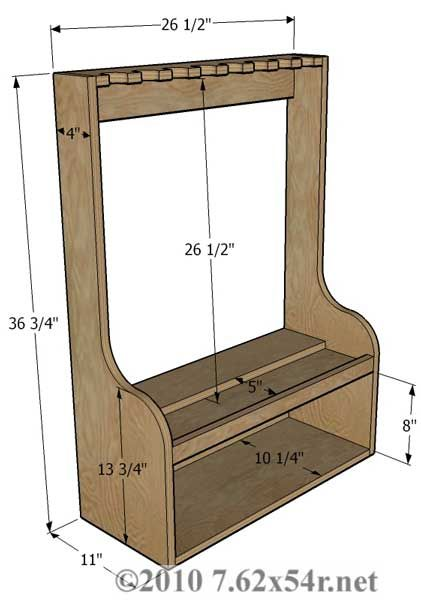Wall Gun Rack Design