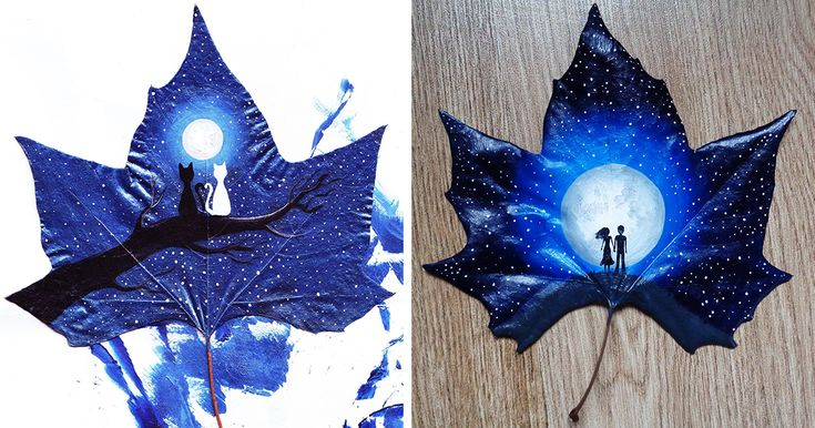 24 Fallen Leaves: Georgian Couple Uses Fallen Leaves To Create Out-Of-This-World Art | Bored Panda