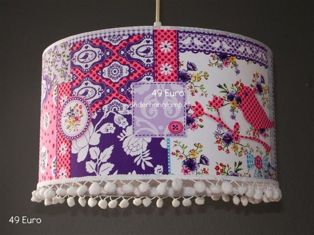 lamp met roze vogeltje  mas inspiracion!  Pinterest