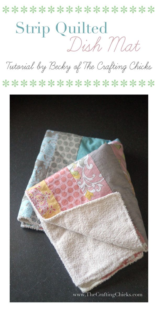 Strip Quilted Dish Mat.  This is going to make some great Christmas presents! I love the towel on the back.