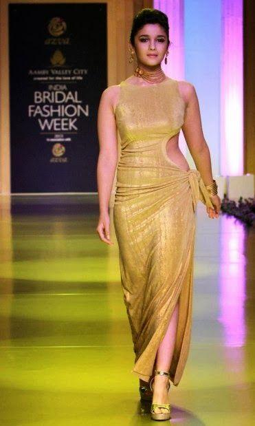 #AliaBhatt in Golden Outfit by #TarunTahiliani