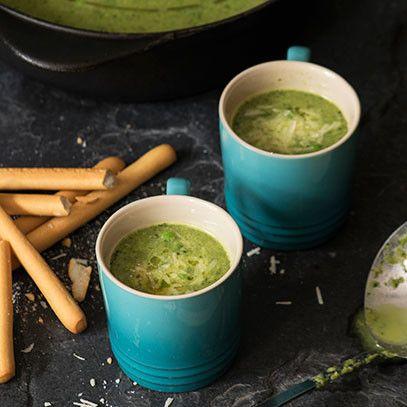Lettuce   pea soup