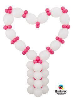 click pin for do it yourself heart balloon column kit