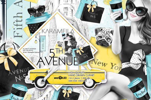 Fashion Clipart Shopping Clipart New York Flatiron by KaramfilaS