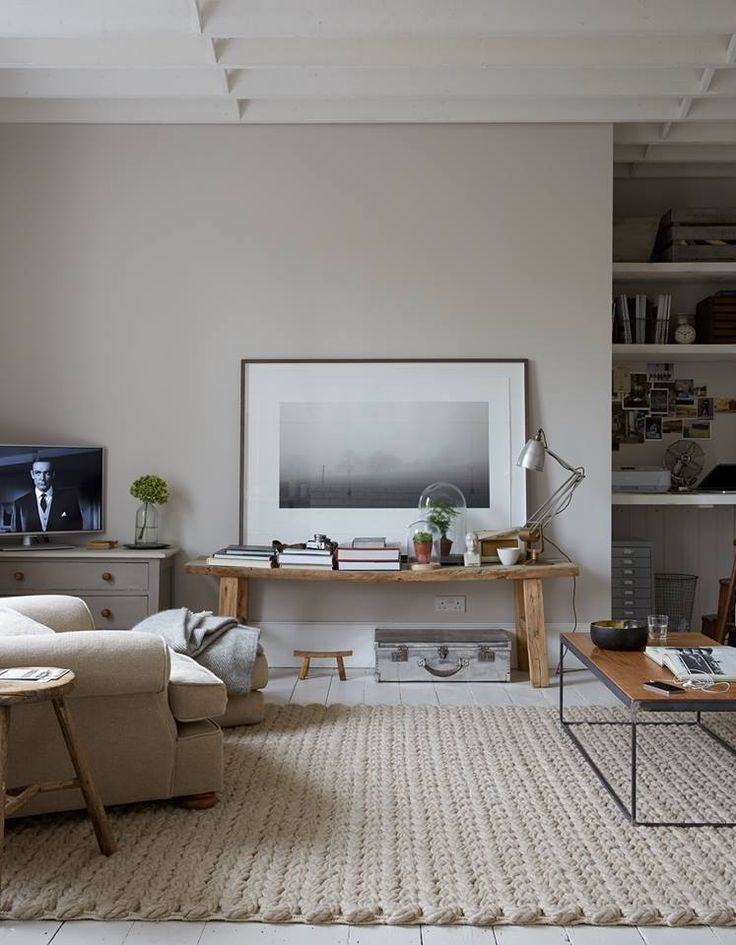 More rug inspiration // textured rug and nice coffee table with burnished chrome legs