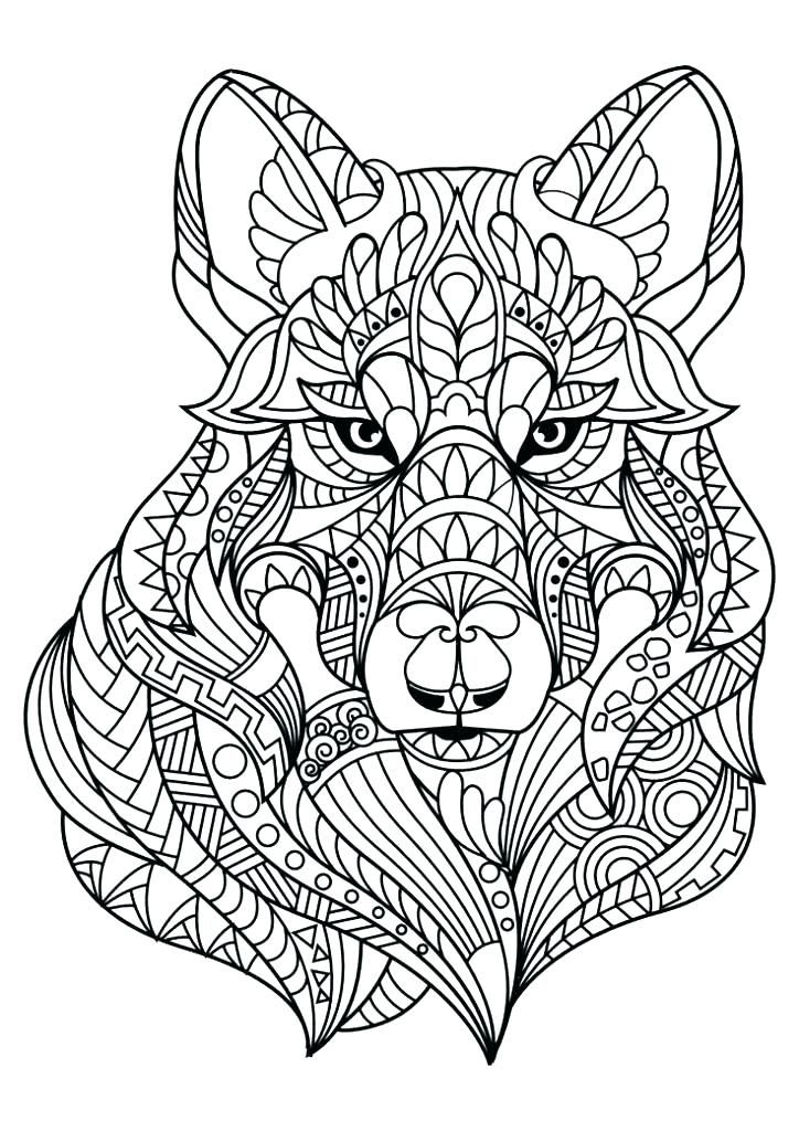 Animal Mandala Coloring Pages Dog Coloring Page Mandala
