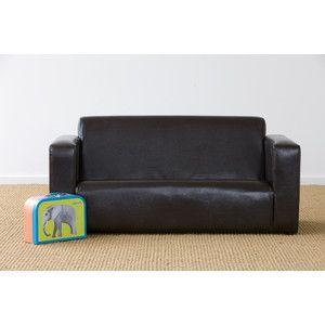 Chocolate Kids Jack 2 Seater Sofa