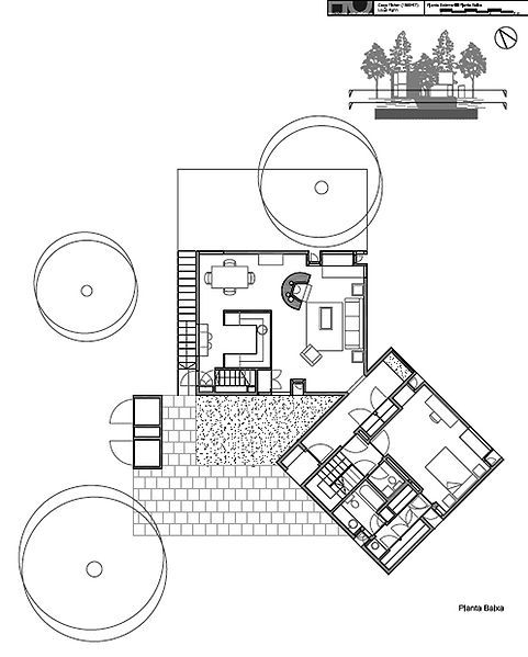 Kahn - Fisher House  Plan