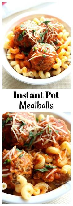 Instant Pot Meatballs–you can make meatballs in your electric pressure cooker! They're tender and taste great served over pasta and sprinkled with parmesan cheese. This is a hands off recipe that takes just a few minutes to cook. Try making these with ground turkey, beef, pork, chicken or a combination.