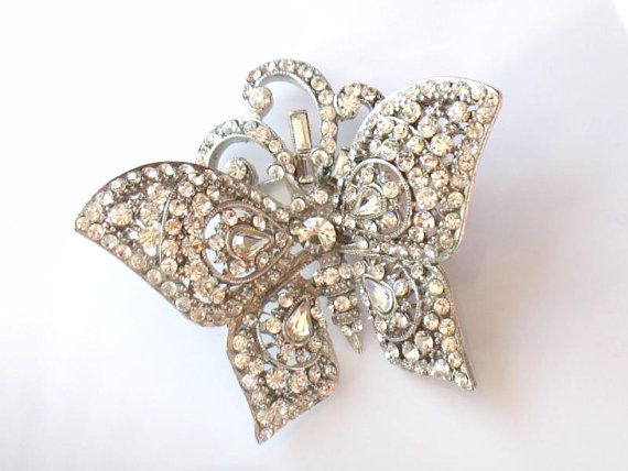 JOSE MARIA BARRERA Butterfly Brooch by JewelryQuestDesign on Etsy, $110.99