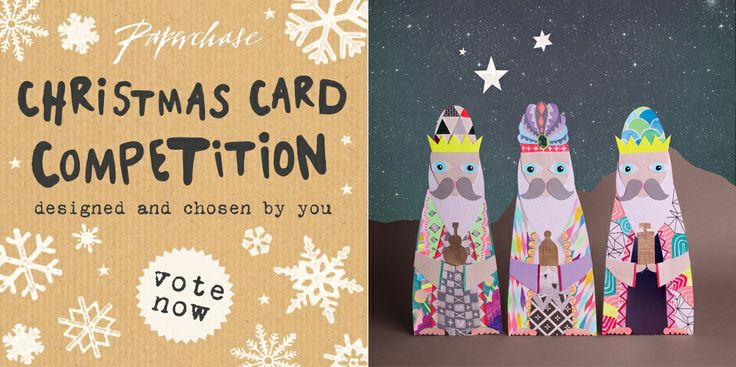 Vote for me! The #paperchase #charity Christmas card competition has selected three finalists, please vote #threekings #sampierpoint by clicking on this image. Voting closes March 12th. Many thanks, Sam :)