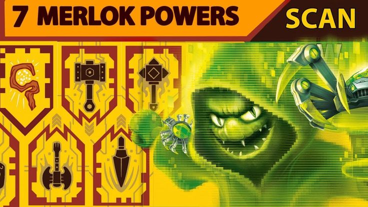 All Merlok Powers 7 Lego Nexo Knight Merlok Nexo Powers - Scan and Enjoy