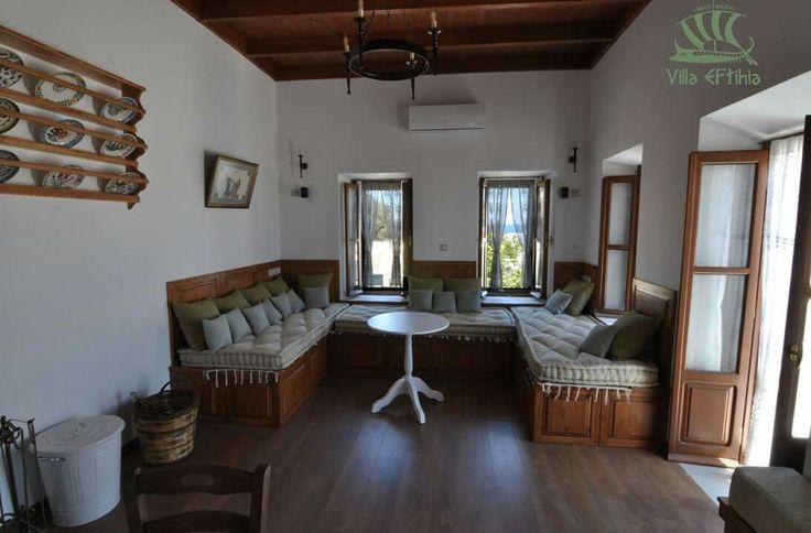 Living room Villa Eftihia Lindos Rhodes Greece