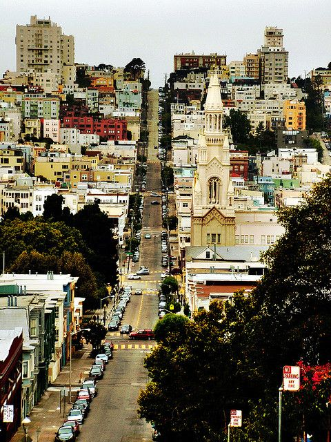 SF is full of steep hills a great city views. #wanderingsole
