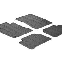 Protect+your+car+floor+carpet+with+these+custom+molded+rubber+floor+mats.+This+4+piece+set+will+cover+the+floor+area+for+the+front+and+rear+seats.+The+rubber+material+will+hold+the+floor+mats+in+place.+These+mats+also+have+holes+for+the+factory+floor+anchors+for+an+even+more+secure+fitting.+There...