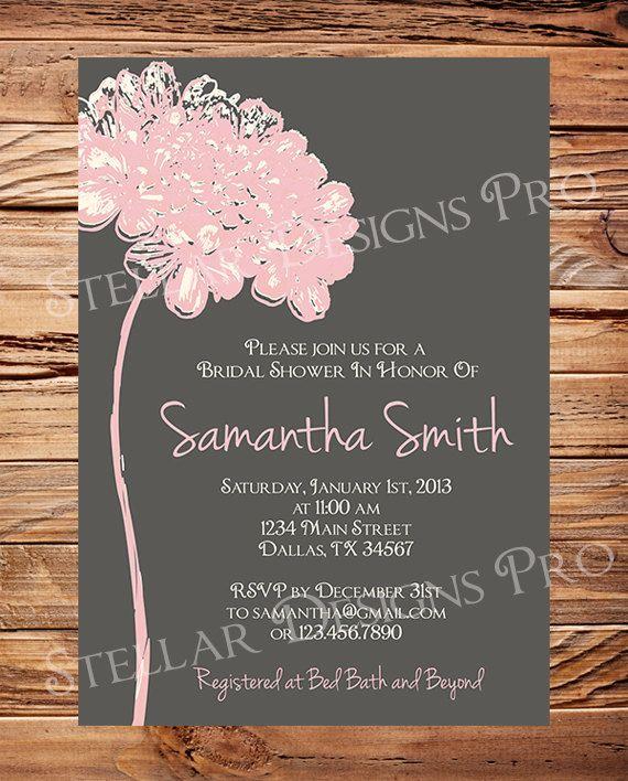Bridal Shower Invitation Flower Bridal or by StellarDesignsPro, $20.00
