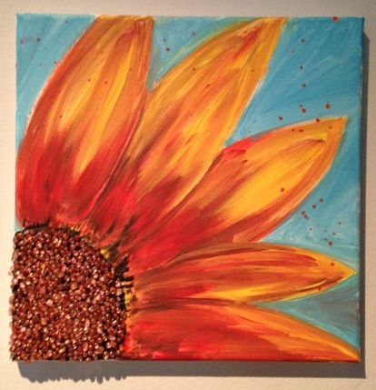 145 best diy teens library arts images on pinterest teen library here comes the sunflower mosaic on canvas you can now purchase supplies for this diy solutioingenieria