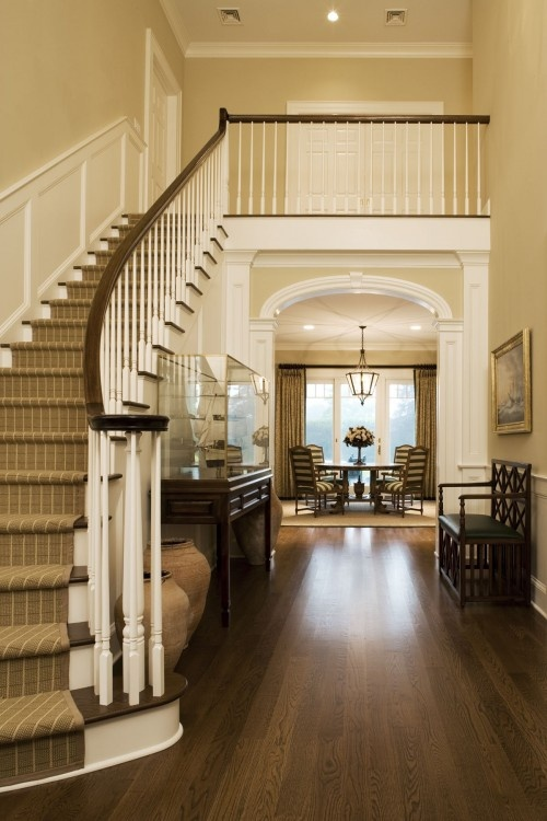 stairs with hardwood floors